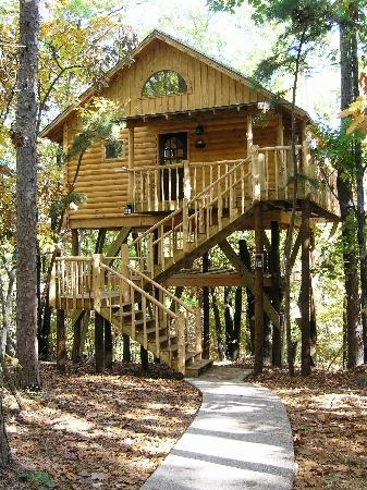 treehouse cottages updated 2020 prices campground Treehouse Cabins Arkansas