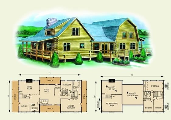 washington log home and log cabin floor planthis is the Log Cabin House Architectural Design And Floorplans