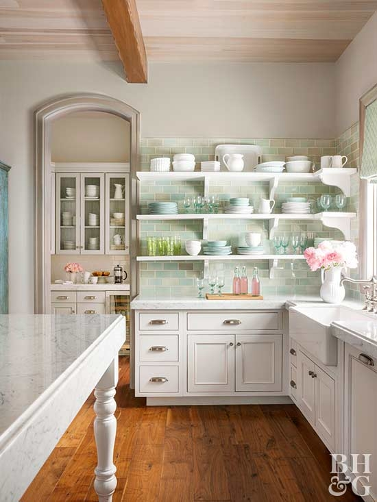 15 tips for a cottage style kitchen better homes gardens Lake Cabin Kitchen Designs