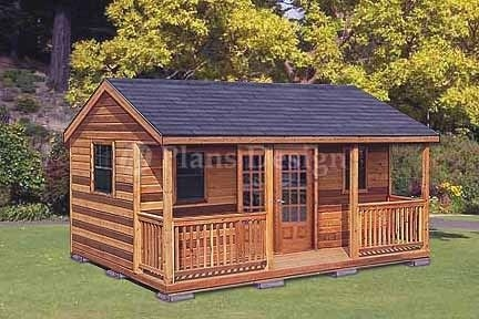 16 x 20 cabin shed guest house building plans 61620 Cottage Cabin Shed
