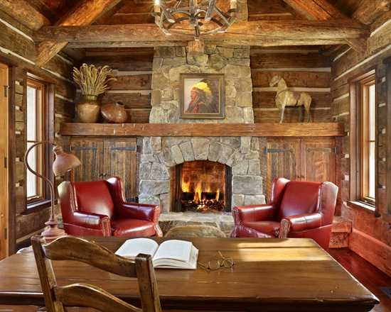 18 great cabin home office design ideas in rustic style Office In Cabin Decorating