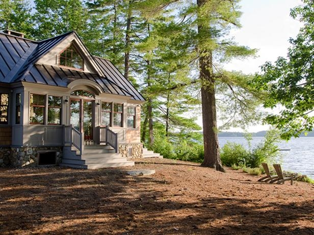 beautiful summer lake houses on hgtv hgtvs decorating Lake Cabin Exterior Ideas