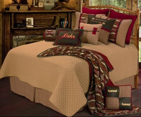 brighten up the lake house with this colorful lake themed Lake Cabin Bedding