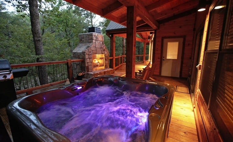 broken bow lake cabin rentals sunset creek spa cabin Cabin Cottage With Hot Tub