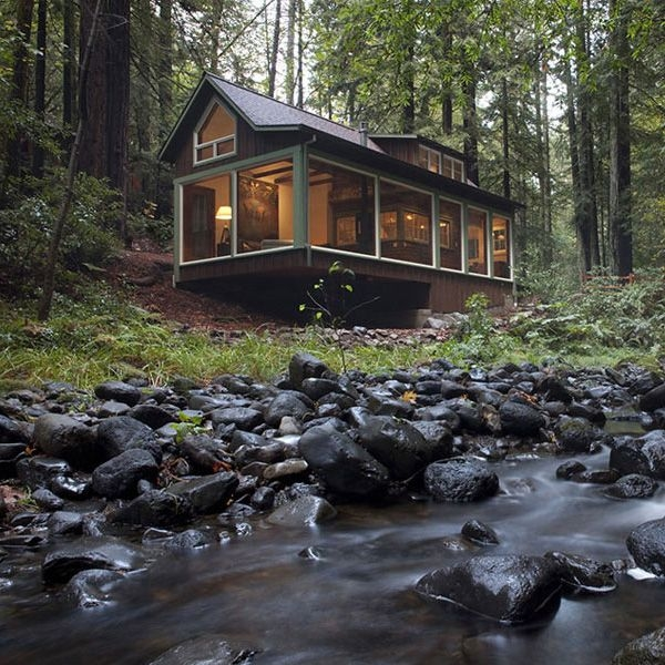 charming creekside cabin with rustic refined aesthetic Cabin Cottage Aesthetic