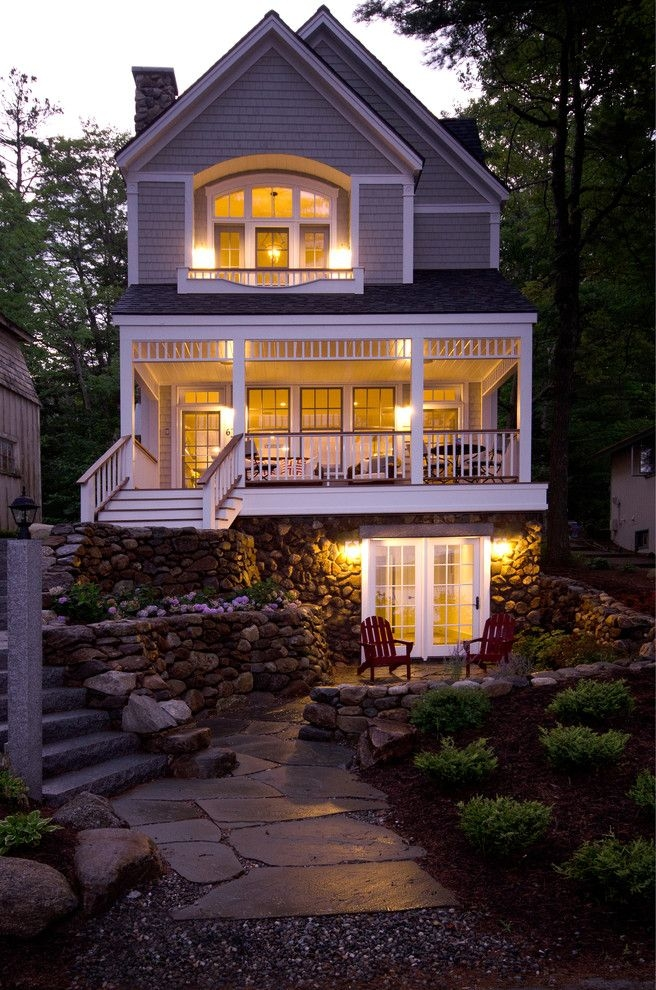 cottage on narrow lot design pictures remodel decor and Lake Cabin Plans Narrow Lot