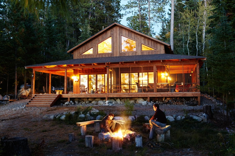 design ideas for cabin decks and porches Cabin Cottage Outdoor