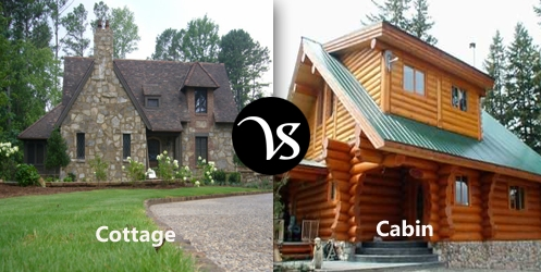 difference between cottage and cabin difference all Cabin And Cottage Difference
