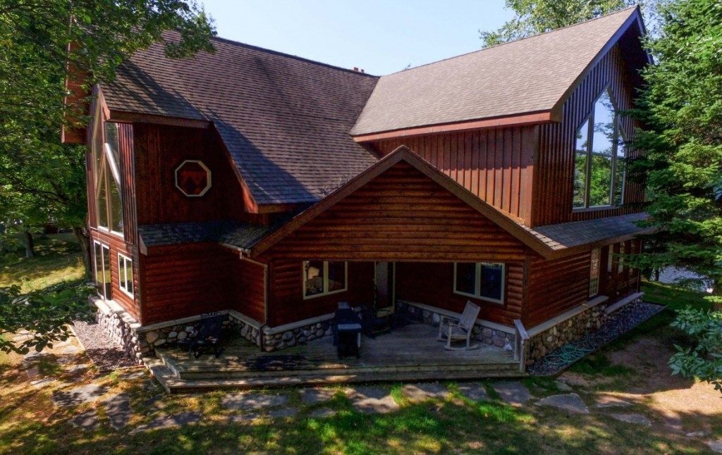 great lakefront homes for sale in michigan with trophy class Lake Cabin For Sale