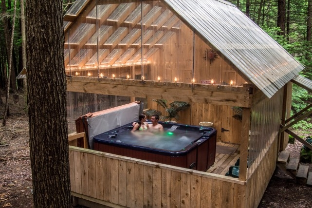 hot tub hominy ridge lodge and cabins Cabin Cottage With Hot Tub