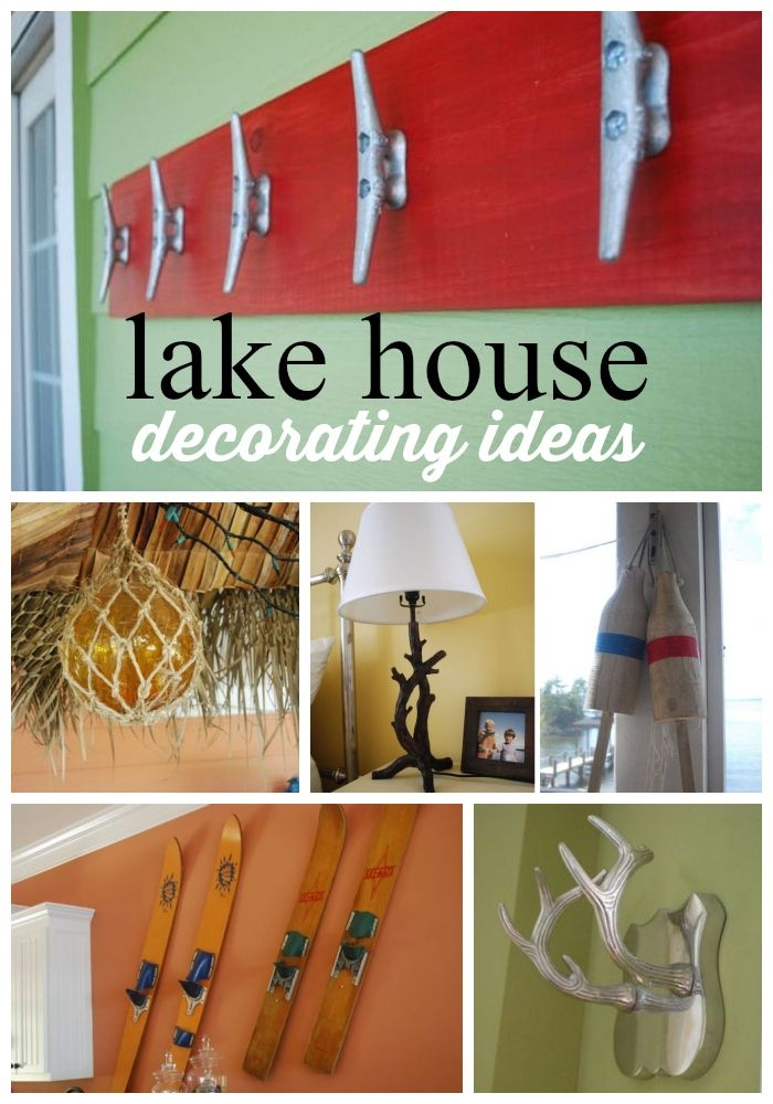 lake house decor ideas to decorate a lake house on a budget Lake Cabin Accessories