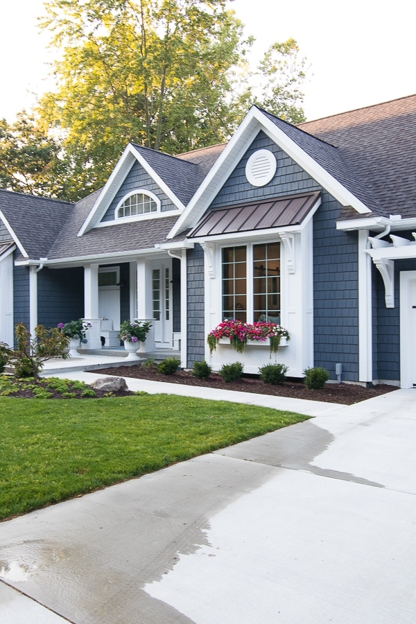 lake house exterior street side the lilypad cottage Lake Cabin Exterior Ideas