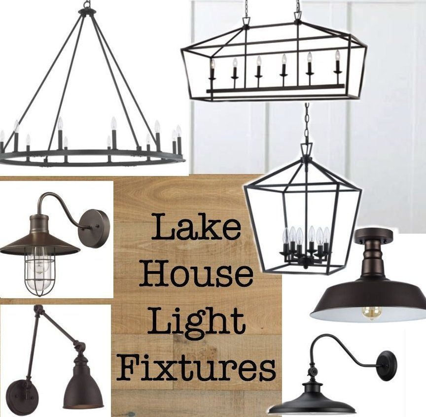 lake house light fixtures cottage in 2020 modern lake Lake Cabin Light Fixtures