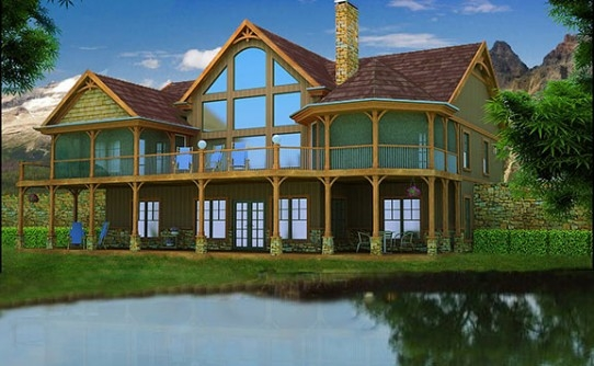 lake house plans specializing in lake home floor plans Lake Cabin Plans With Garage