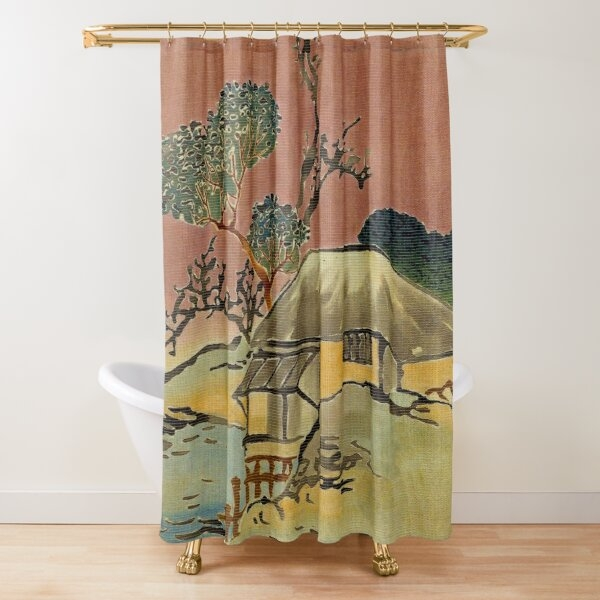 lake house shower curtains redbubble Lake Cabin Shower Curtains