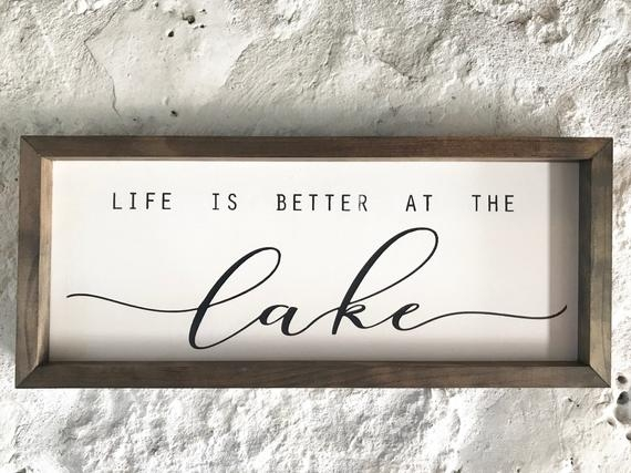 lake lake house sign personalized quote modern farm house bohemian rustic chic cabin lake life Lake Cabin Quotes