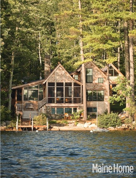 lakeside magic maine home design lake house lakeside Lake Cabin Maine