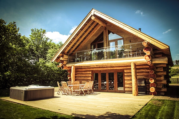 log cabins with hot tubs in cumbria hidden river cabins 8 Berth Log Cabin Lake District