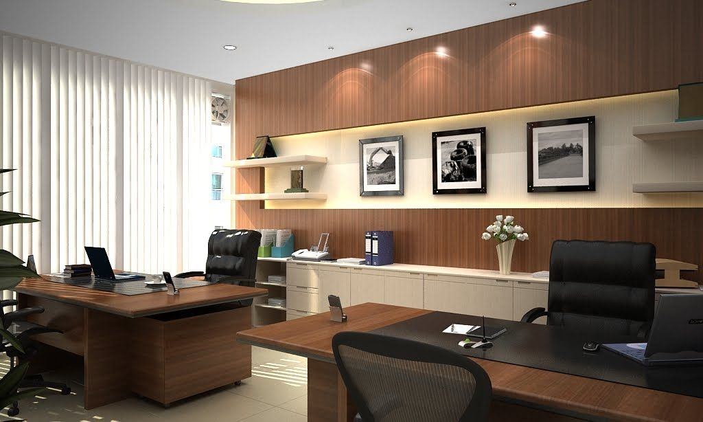 modern style director room interior design decorating Office In Cabin Decorating