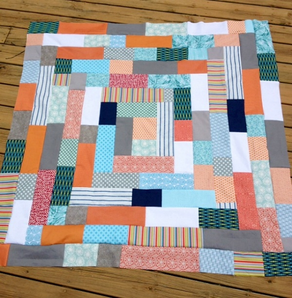 my quilt infatuation giant log cabin quilt tutorial Log Cabin Quilts