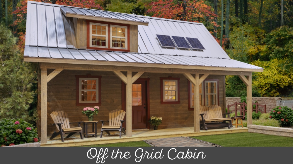 off the grid cabin frontier weaver barns ohio amish Off Grid Cabin Kit