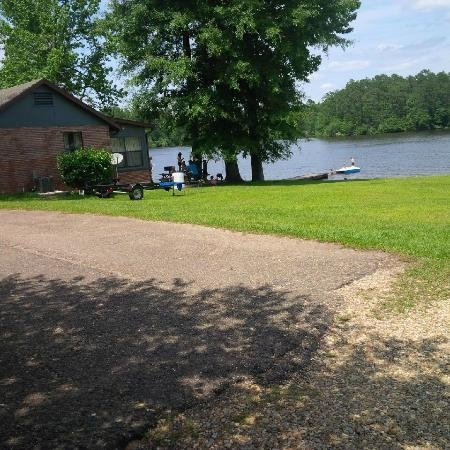 our cabin neighbors have a dock jealous we are picture of Paul B Johnson Lake Cabins