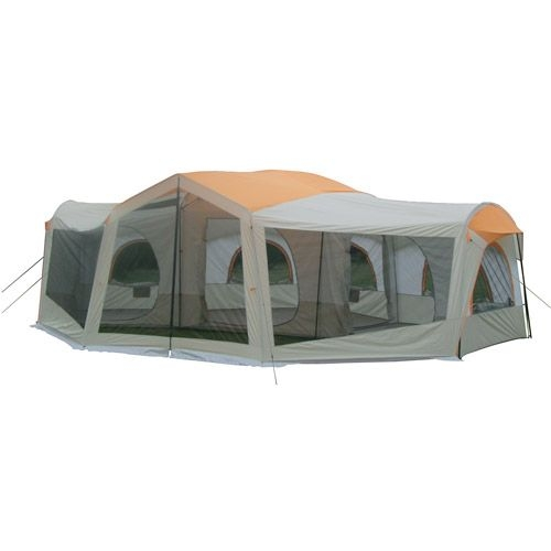 ozark trail 10 person 24 x 17 family cabin tent camping 3Room Cottage Cabin Tent