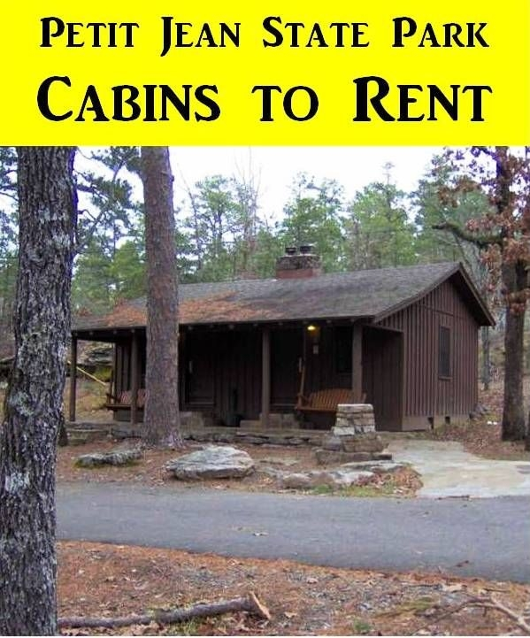 petit jean state park has campsites cabins and a guest Lake Jean Cabin Rentals