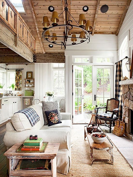 pin better homes gardens on cozy living room decor Cabin Cottage Decor