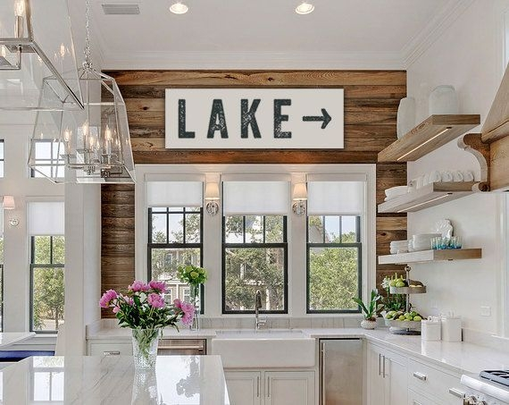 pin cabins for you on houses in 2021 european home Lake Cabin Kitchen