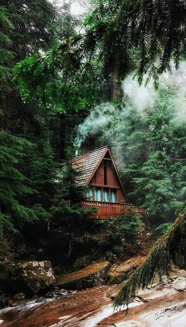 pin on cabins Cabin Cottage Aesthetic