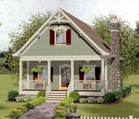 plan 20115ga cozy cottage with bedroom loft small cottage Small Cabin Cottage Plans