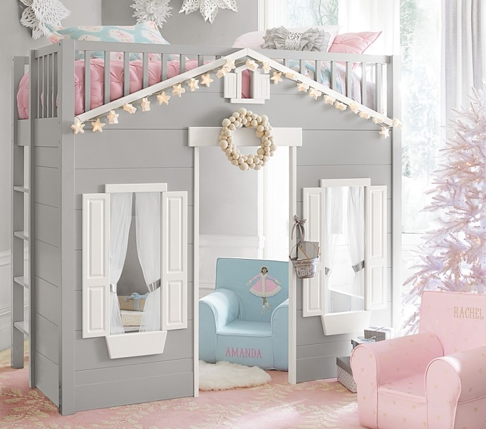 playhouse loft bed Cottage Cabin Bed