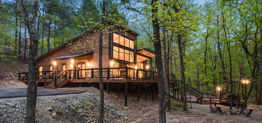 rustic hollow cabin broken bow ok 30s Cabin Cottage Outdoor