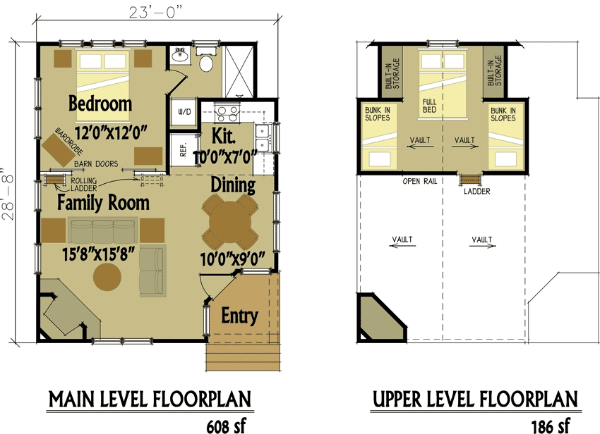 small cabin designs with loft small cabin floor plans Cottage Cabin Blueprints