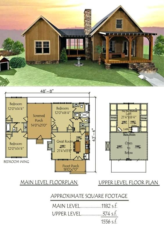 small floor plans cabins dog trot house plan lake cabin Lake Cabin With Loft Plans