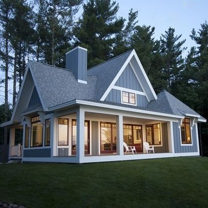 small lake house design ideas pictures remodel and decor Lake Cabin Plans Designs