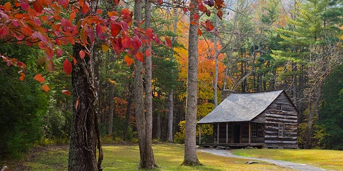 smoky mountain tn log cabins for sale from 100k to 200k Lake Cabin Tennessee For Sale