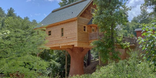 stay in a treehouse in the smoky mountains unique cabin Cottage Cabin Rental Tennessee