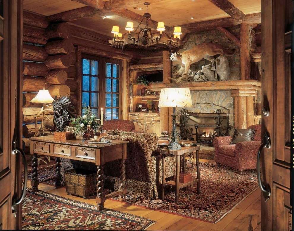 strawberry park lodge rustic home office denver Office In Cabin Decorating