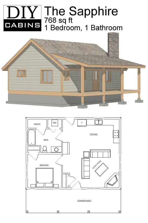the sapphire cabin tiny house floor plans small cabin Cottage Cabin Blueprints