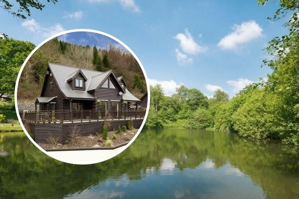 this log cabin for sale in the valleys comes with a share in Lake Cabin Uk For Sale