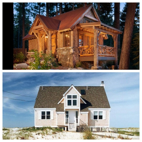 this or that mountain cabin or beach cottage Cabin Vs Cottage