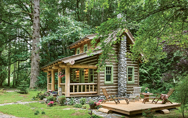 tour the tiny cottage in the woods Cottage Cabin Pictures