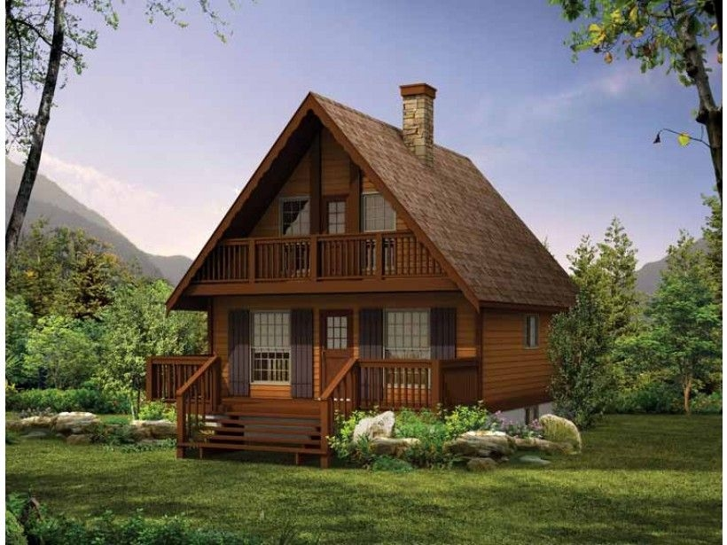 victorian style house plan 3 beds 15 baths 1073 sqft Cabin Cottage Chalet