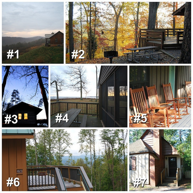 virginia state parks how to pick a random cabin at a Lake Anna State Park Cabin 8