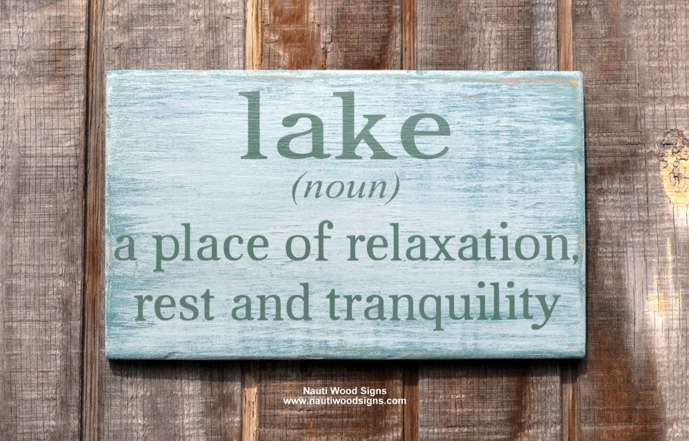 wwwnautiwoodsigns lake house lake decor lake life Lake Cabin Quotes