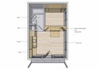 14 x 20 interior space ideas tiny house design 20 X 20 Cabin Plans