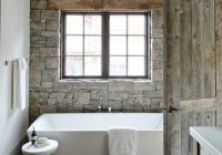 16 homely rustic bathroom ideas to warm you up this winter Lake Cabin Bathroom Ideas