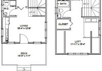 16×16 house 1 bedroom 15 bath 492 sq ft pdf floor etsy 16 X 16 Cabin Plans